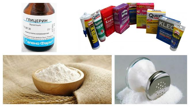 Ингредиенты для приготовления теста для лепки