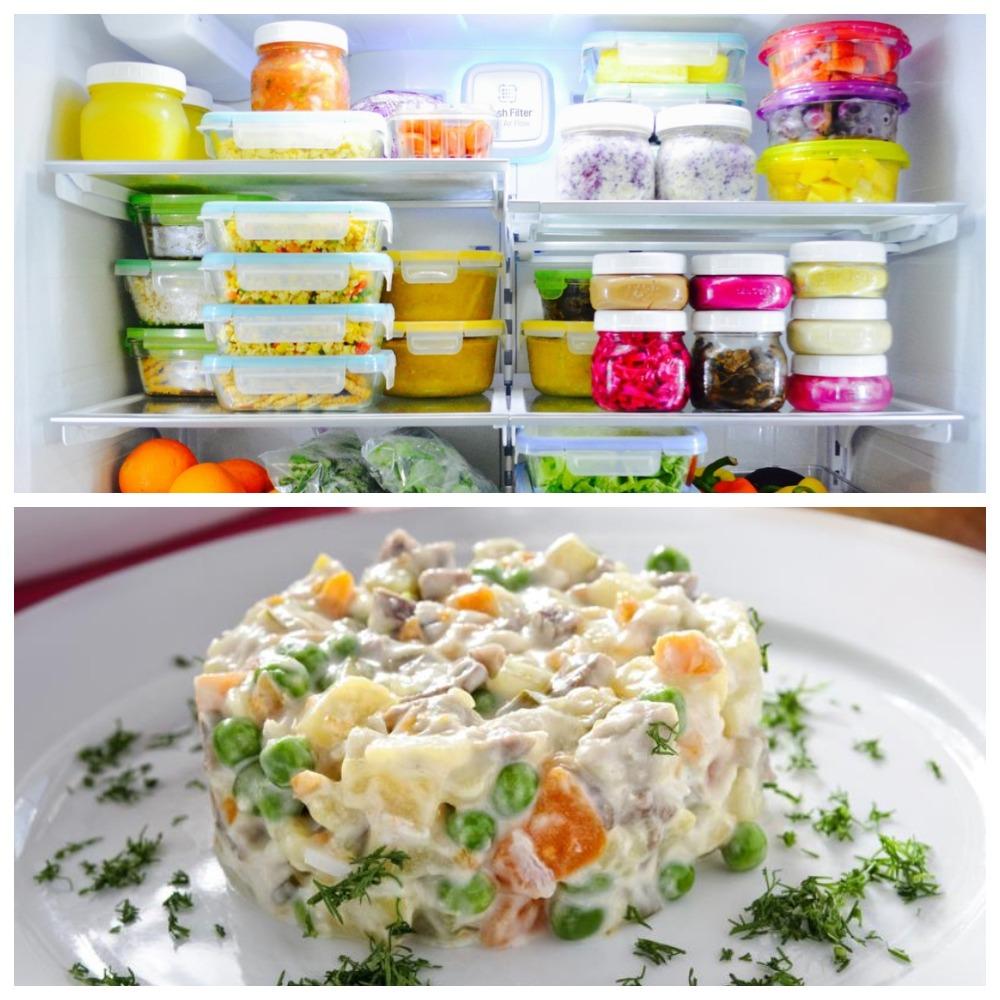 Срок хранения салатов с майонезом в холодильнике и морозильной камере