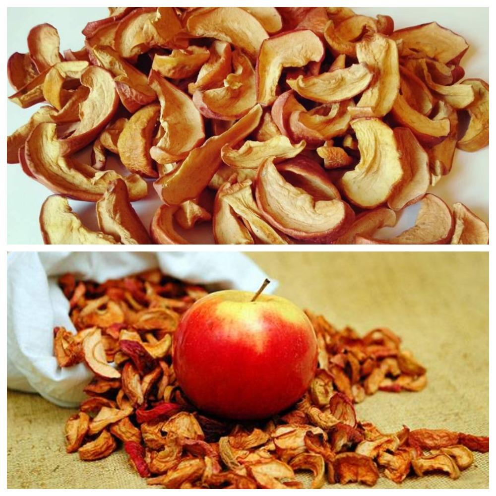 Как правильно хранить сушеные яблоки