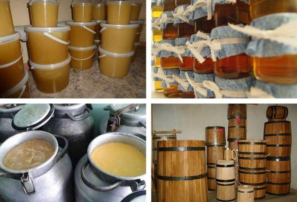 Как хранить мед пластик